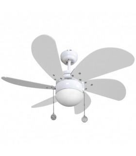 Ventilador Blanco Delfin 6 Aspas Blanc0