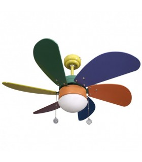 Ventilador Colores Delfin 6 Aspas Color
