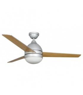 Ventilador Plata Alisio 3 Aspas Plata/haya - Control Remoto