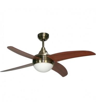 Ventilador Cuero Osiris 4 Aspas Cerezo 2xe27 45x116d Control Remoto