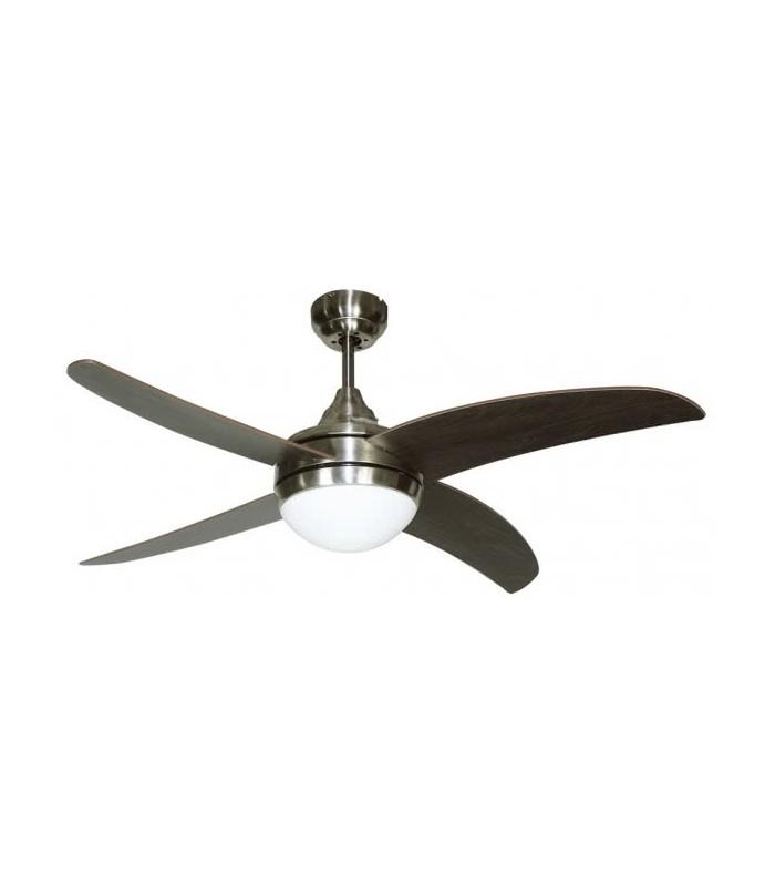 Ventilador Niquel Osiris 4 Aspas Níquel/Wengue 2xe27 45x116d Control Remoto