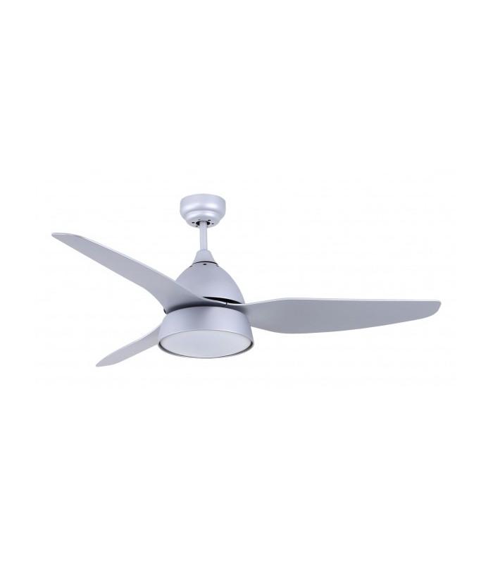 Ventilador Autan Plata 2xe27 3 Aspas Plata 42x132d Control Remoto