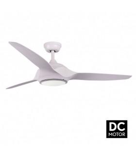 Ventilador Narai 18w 4500k Blanco 3 Aspas Blancas 1600lm 35x132d Control Remoto Incluido